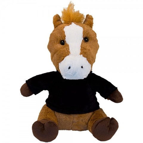 "10"" Plush Horse With Customizable T-Shirt"