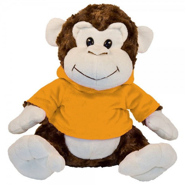 "10"" Plush Monkey With Customizable Hoodie"
