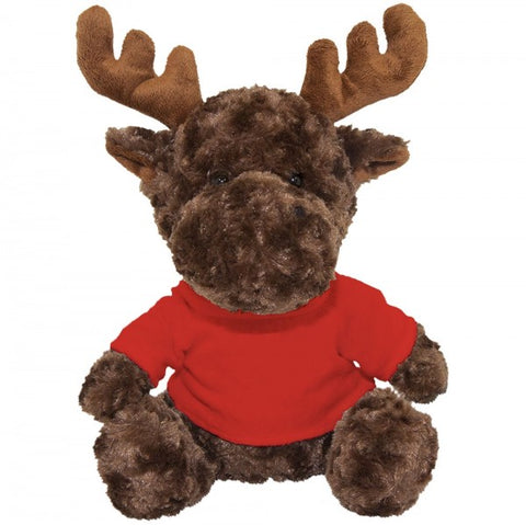 "10"" Plush Moose With Customizable T-Shirt"
