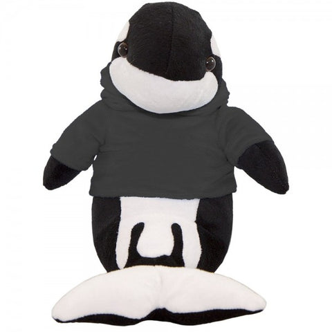 "10"" Plush Orca Whale With Customizable Hoodie"