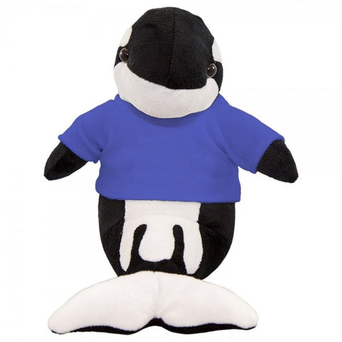 "10"" Plush Orca Whale With Customizable T-Shirt"