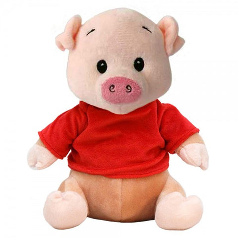 "10"" Plush Pig With Customizable T-Shirt"