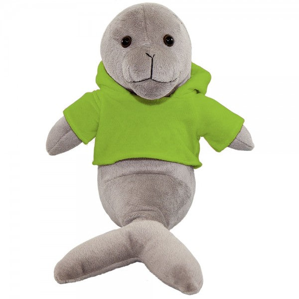 "10"" Plush Seal With Customizable Hoodie"
