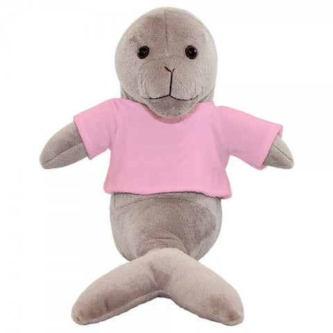 "10"" Plush Seal With Customizable T-Shirt"