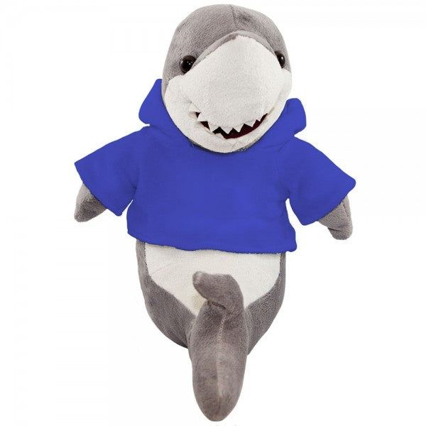 "10"" Plush Shark With Customizable Hoodie"