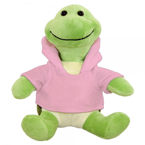 "10"" Plush Turtle With Customizable Hoodie"