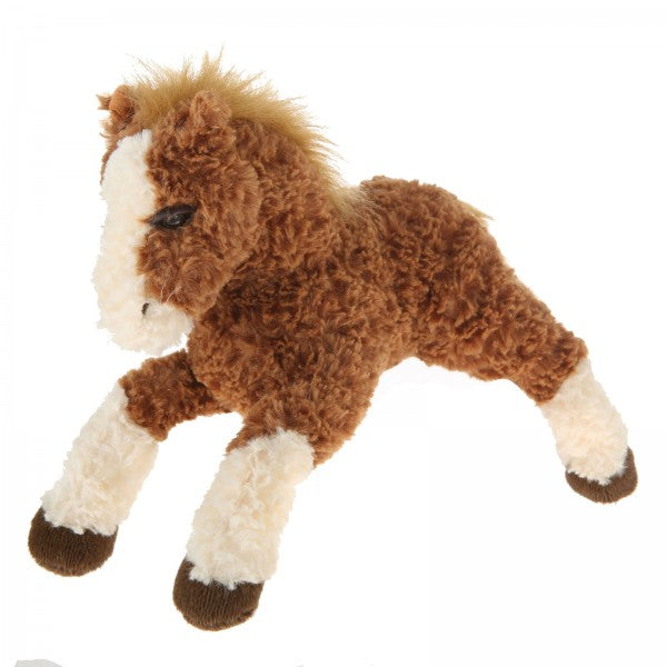 "11"" Plush Dark Brown Horse"