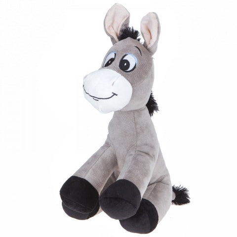 "12"" Plush Sitting Gray Donkey"