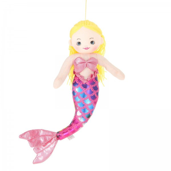 "16"" Plush Gold-Haired Mermaid Doll"