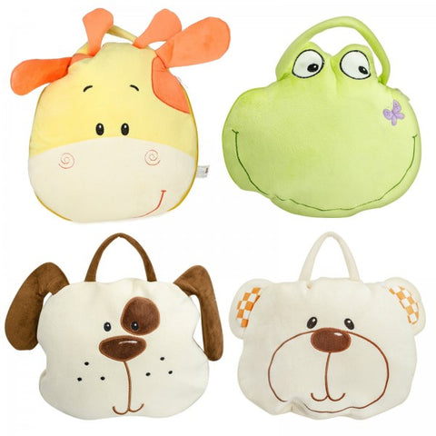 "4"" Assorted Plush Animals With Blankets 2"