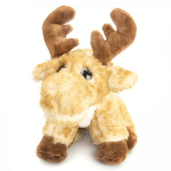 "7"" Plush Big Eyes Squatting Moose"
