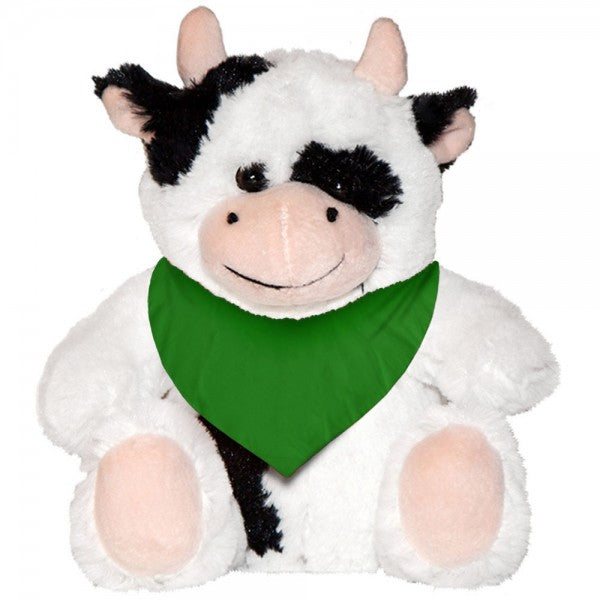 "7"" Plush Cow With Customizable Bandana"