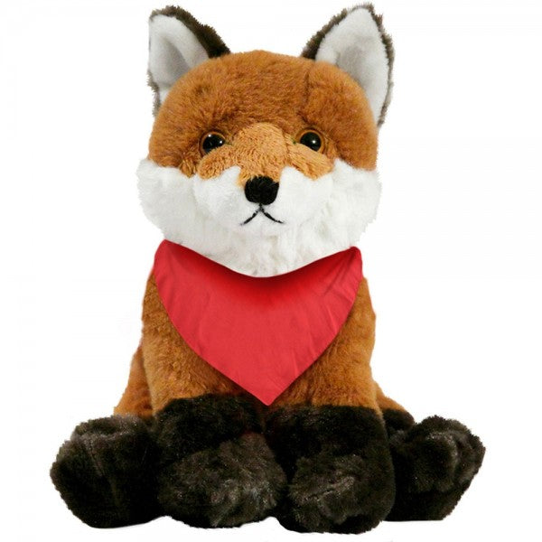 "7"" Plush Fox With Customizable Bandana"