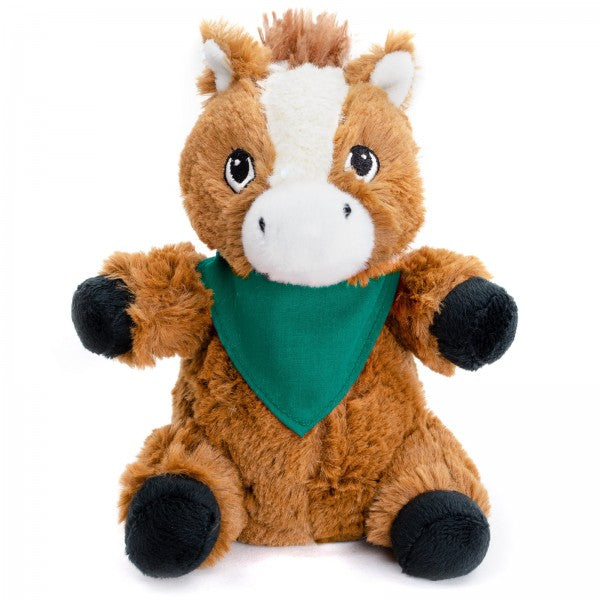 "7"" Plush Horse With Customizable Bandana"