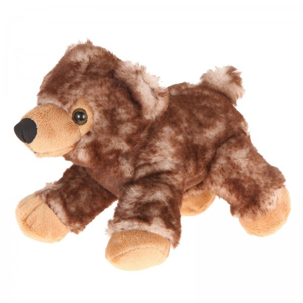 "7"" Plush Lying Brown Bear"
