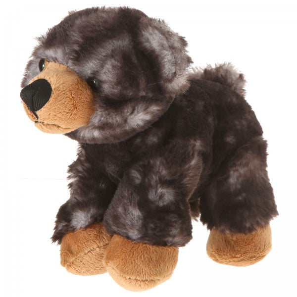 "7"" Plush Lying Dark Brown Bear"
