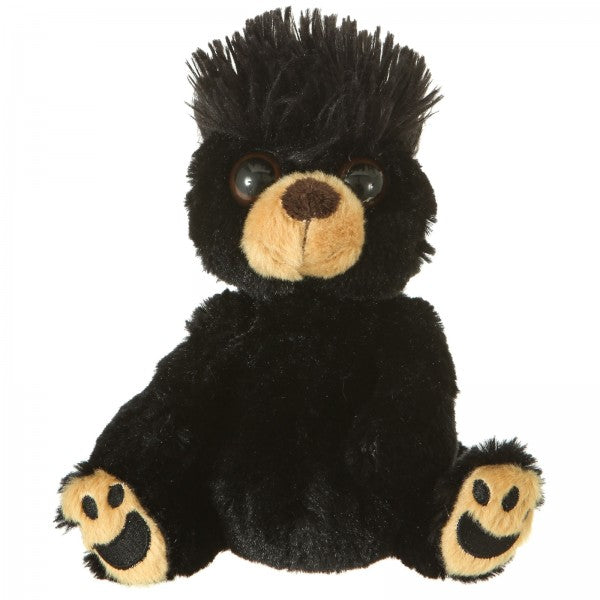 "7"" Plush Mop Tops Black Bear"