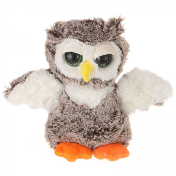 "9"" Plush Big Eyes Standing Owl"