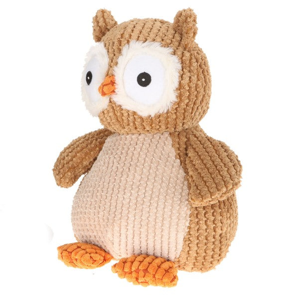 "12'' Plush Brown Nice ""N"" Knitted Owl"