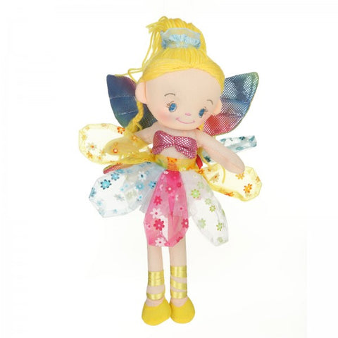 "12"" Plush Gold-Haired Fairy Doll"
