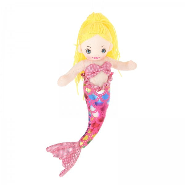 "12"" Plush Gold-Haired Mermaid Doll"