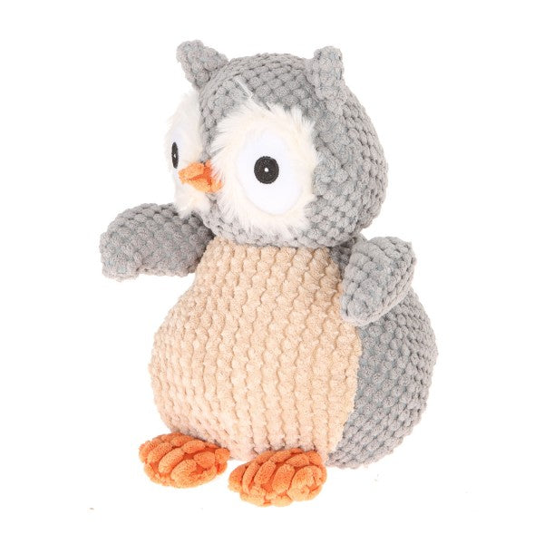 "9"" Plush Gray Nice ""N"" Knitted Owl"
