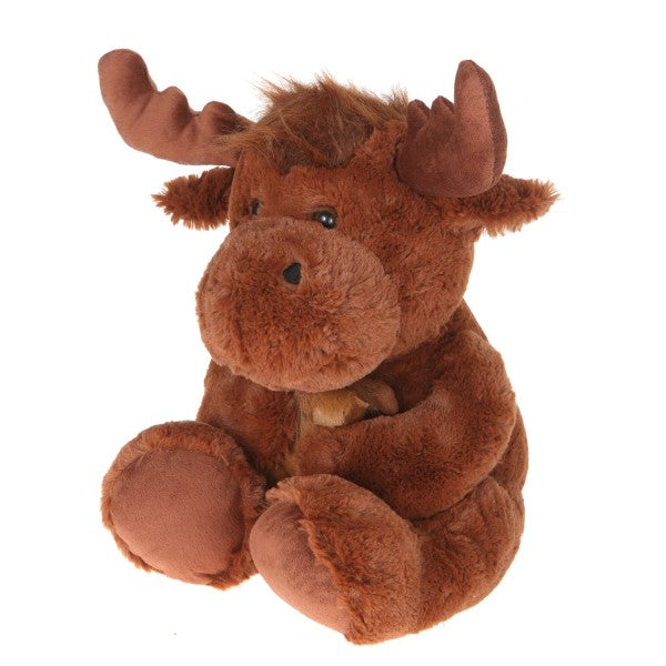 "16"" Plush Moose With Baby"