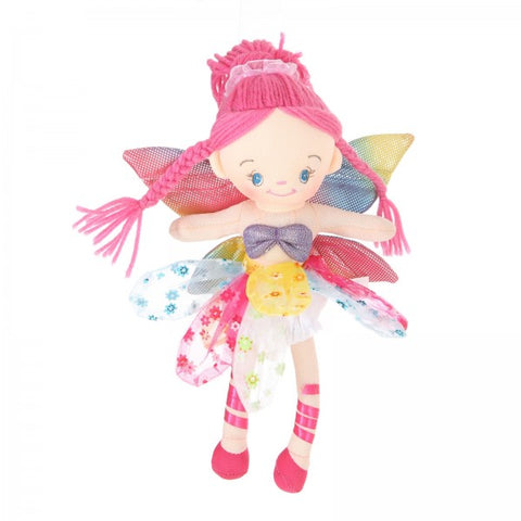 "12"" Plush Pink-Haired Fairy Doll"