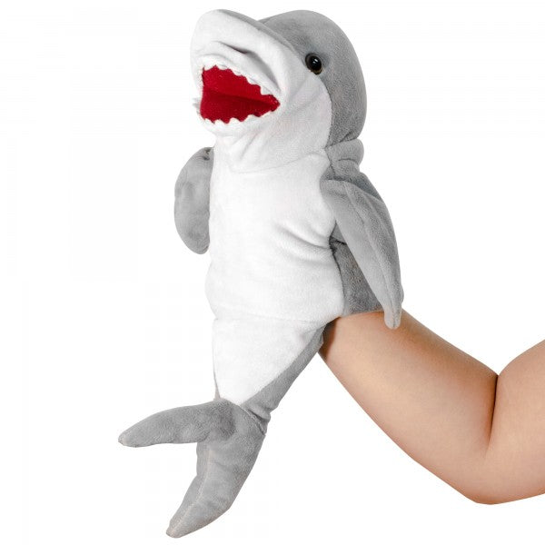 "12"" Plush Shark hand puppet"