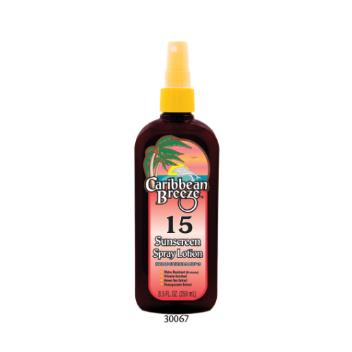 SPF 15 Sunscreen Spray Lotion