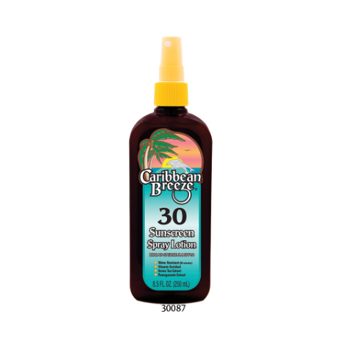 SPF 30 Sunscreen Spray Lotion