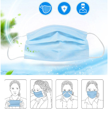 FDA Approved 3-Ply Ear Loops Disposable Face Masks