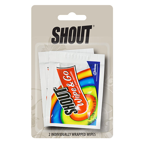 Shout Wipes Plus Stain Remover