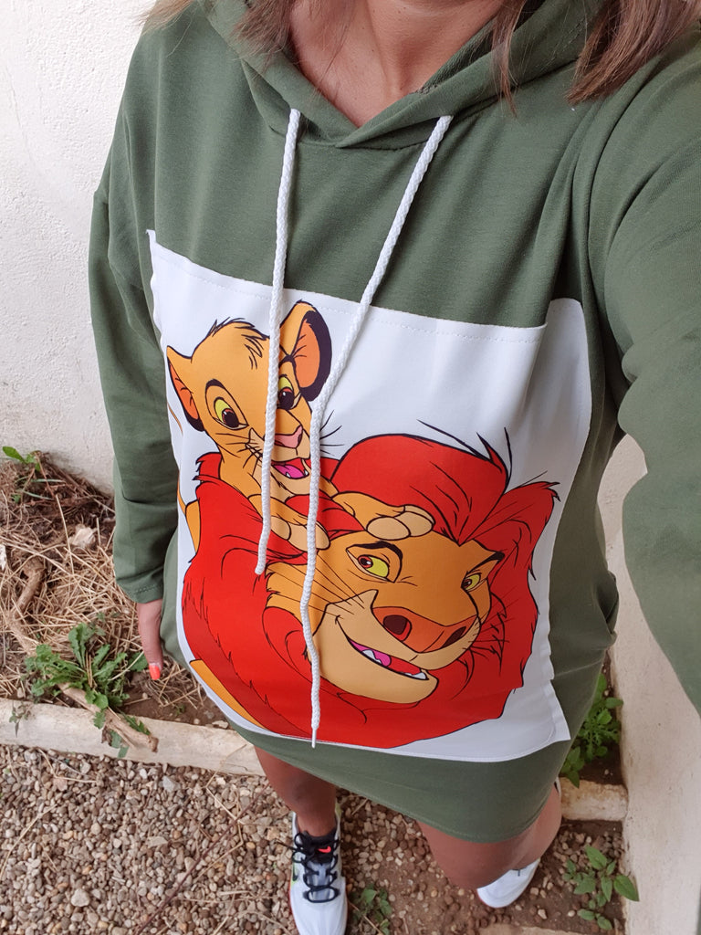 Pull tunique roi lion