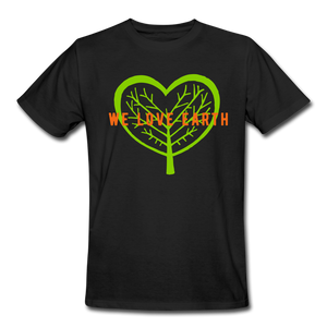 We Love Earth Organic T-Shirt - black