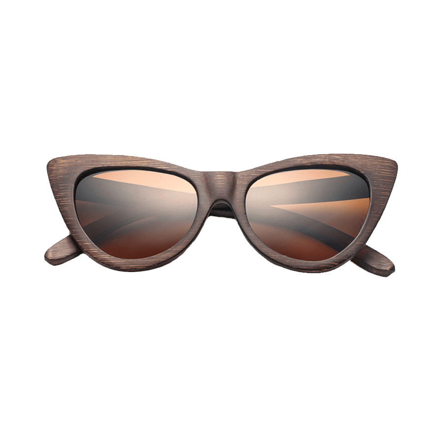 Polarized Cat Eye Wooden Sunglasses