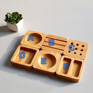 Bamboo Desktop Organizer Blocks