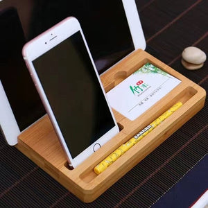 Wood Phone Stand Organizer
