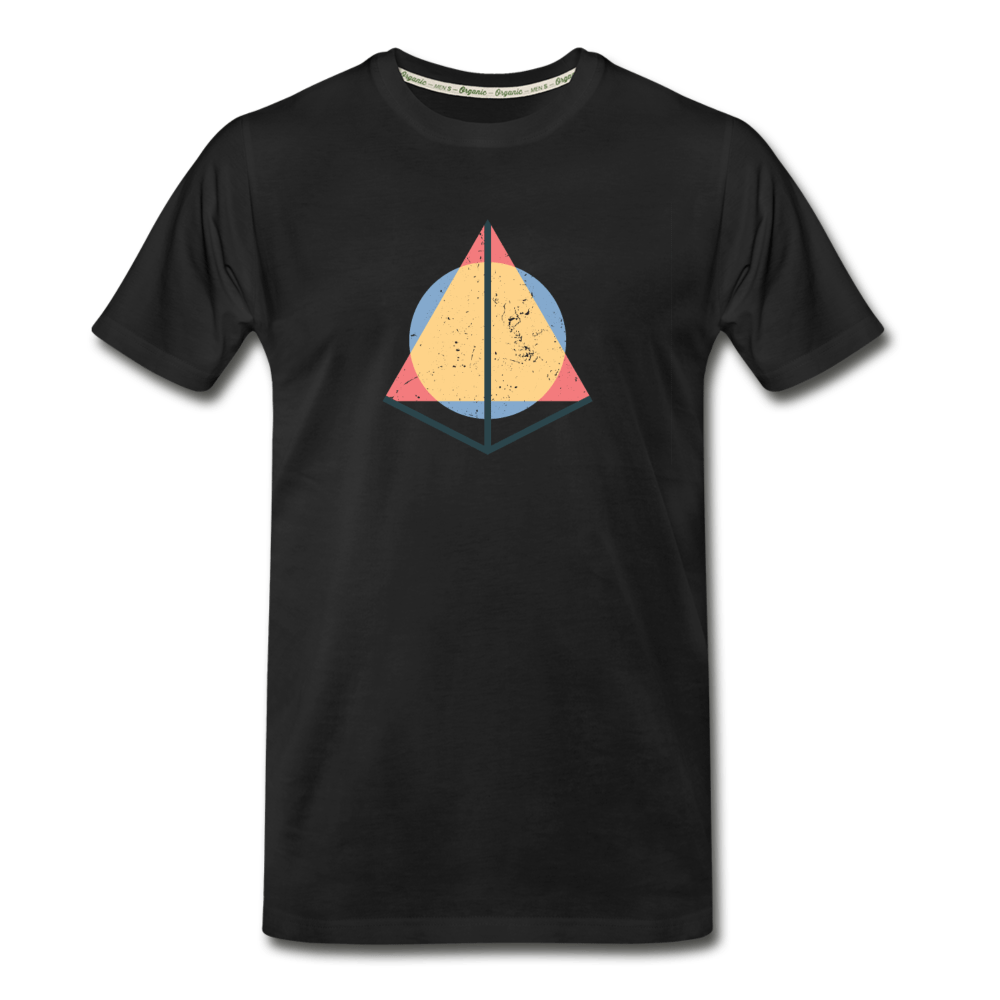 3D Pyramid Organic T-Shirt - black