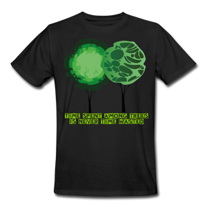 Time Spent Among Trees Organic T-Shirt - black