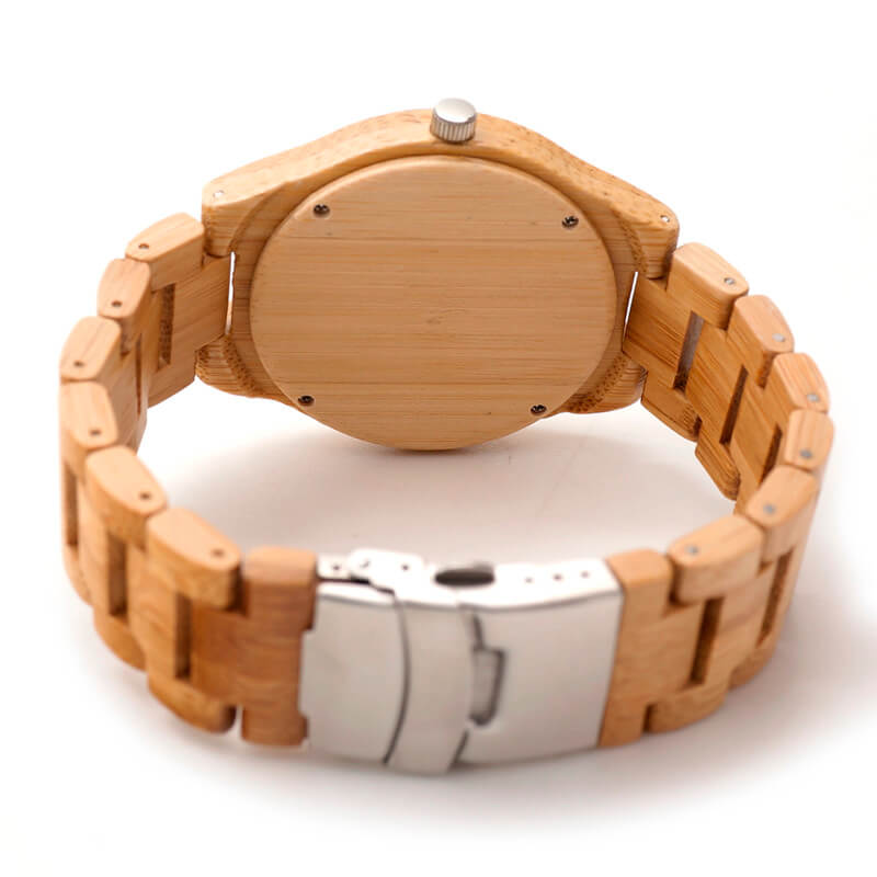 Bamboo Wooden Watch back look