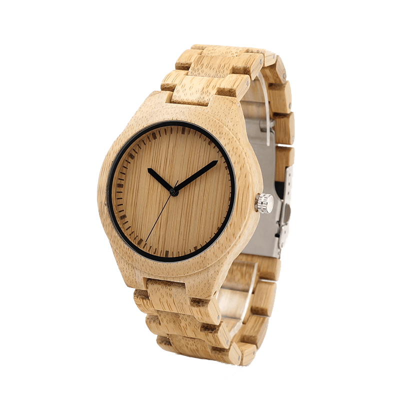Bamboo Wooden Watch front look
