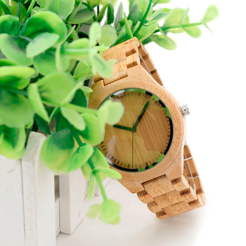 Bamboo Wooden Watch real look