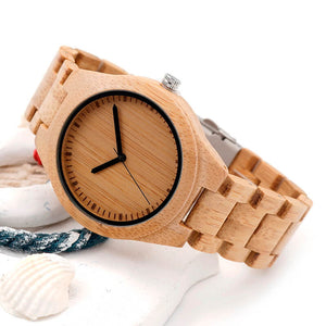 Bamboo Wooden Watch side look