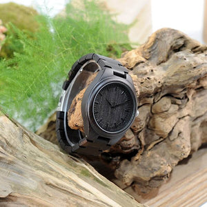 Ebony Wooden Watch For Him & Her