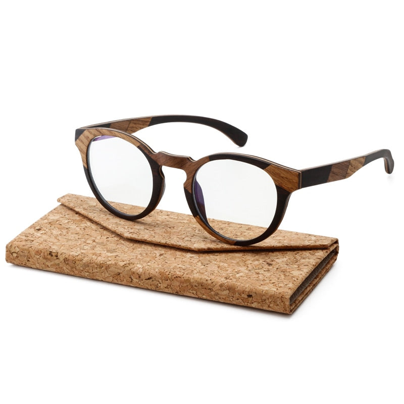 Unique Design Wood Sunglasses For Men and Women Multiple Wood Hand Stitching Anti-blue Lens UV400 Handmade with Case