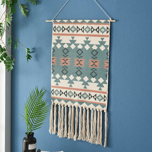 Tassel Bohemian Macrame Woven Wall Hanging Handmade Knitting Tapestry Home Office Wall Decoration Tapestry Wall Hanging