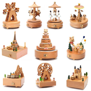 Wooden Carousel Musical Box