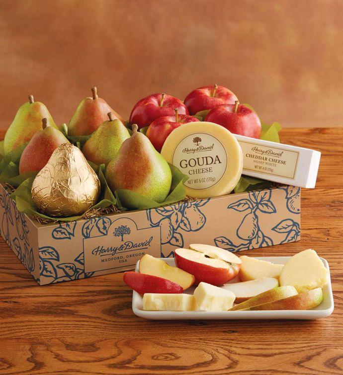 Classic Pears, Apples, and Cheese Gift [Free Delivery] - Carved Nature