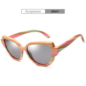 Colorful Polarized Bamboo Sunglasses